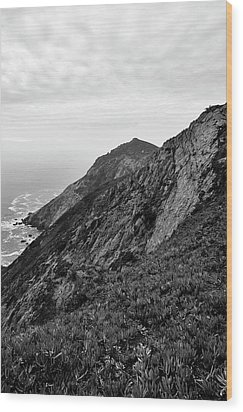 Point Reyes II Bw Wood Print by David Gordon