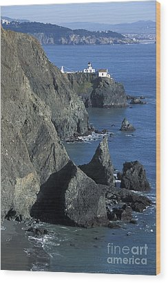 Wood Print featuring the photograph Point Reyes Light by Stan and Anne Foster