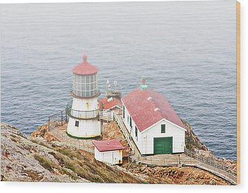 Point Reyes Lighthouse At Point Reyes National Seashore Ca Wood Print by Christine Till