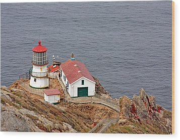 Point Reyes Lighthouse Ca Wood Print by Christine Till
