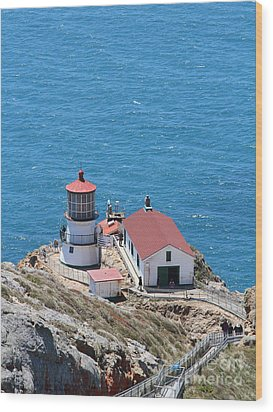 Point Reyes Lighthouse In California 7d15975 Wood Print by Wingsdomain Art and Photography