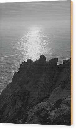Point Reyes Seascape I Bw Wood Print by David Gordon