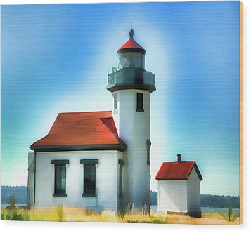 Point Robinson Lighthouse Wood Print by Greg Sigrist
