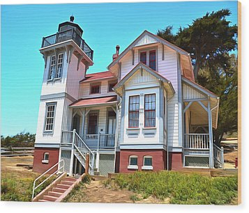 Wood Print featuring the photograph Point San Luis Lighthouse by Floyd Snyder