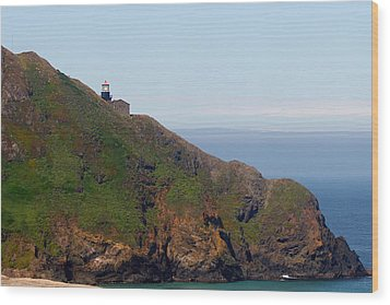 Point Sur Lighthouse Ca  Wood Print by Christine Till