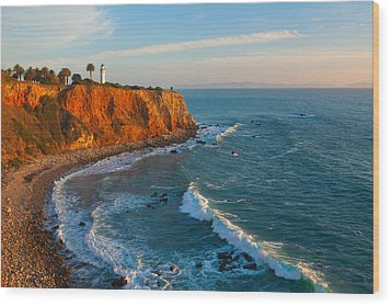 Point Vicente Lighthouse Palos Verdes California Wood Print