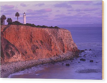 Wood Print featuring the photograph Point Vicente Lighthouse - Point Vicente - Orange County by Photography By Sai