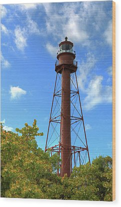 Wood Print featuring the digital art Point Ybel Lighthouse by Sharon Batdorf