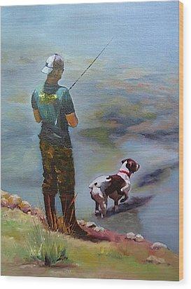 Pointin Fish Wood Print by Vicki Brevell