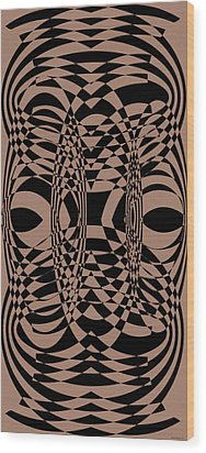 Points 7-9-4 Wood Print by Evelyn Patrick