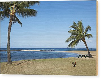 Poipu Beach Wood Print by Kelley King