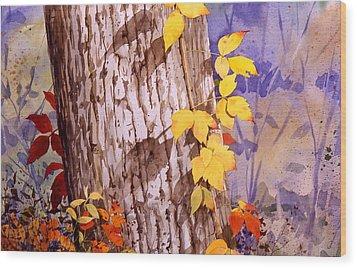 Poisonous Beauty Wood Print by Faye Ziegler