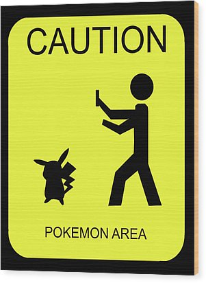 Wood Print featuring the digital art Pokemon Area by Shane Bechler
