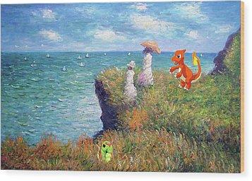 Wood Print featuring the digital art Pokemonet Seaside by Greg Sharpe
