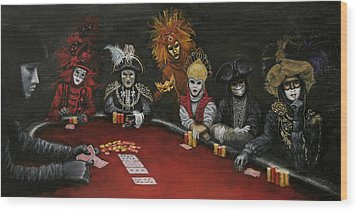 Poker Face II Wood Print