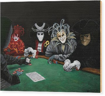 Poker Face Wood Print