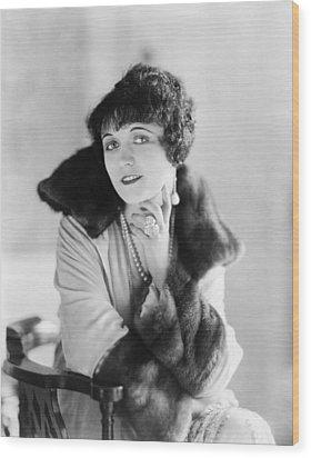 Pola Negri 1899-1987, Polish Silent Wood Print by Everett