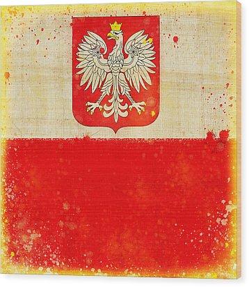 Poland Flag Wood Print by Setsiri Silapasuwanchai