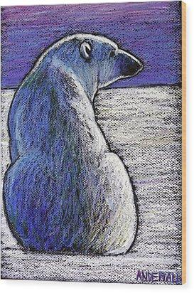 Polar Bear Backside Wood Print