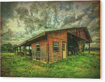 Wood Print featuring the photograph Pole Barn by Lewis Mann