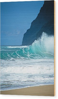 Polihale Beach  Wood Print by Kevin Smith
