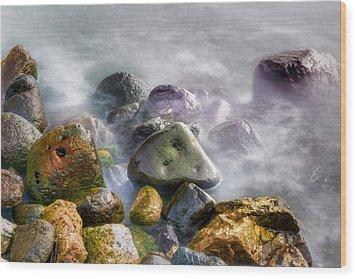 Polished Rocks Wood Print