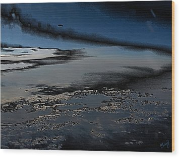 Polished Sky Wood Print