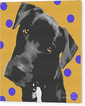Polka Dot Wood Print by Amanda Barcon