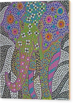 Polka Dot Ganesha Wood Print by Vijay Sharon Govender