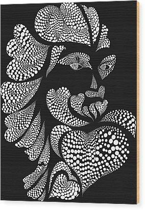 Polkadot Lover Wood Print by Hye Ja Billie