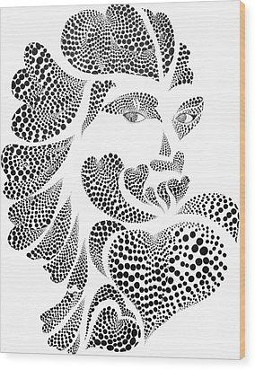 Polkadot Lover Original Wood Print by Hye Ja Billie