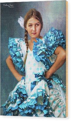 Wood Print featuring the photograph Polkadot Princess by Wallaroo Images