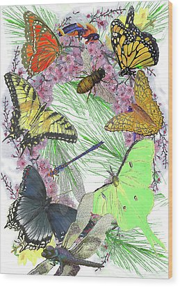 Pollinator Profusion Wood Print by Forrest C Greenslade PhD
