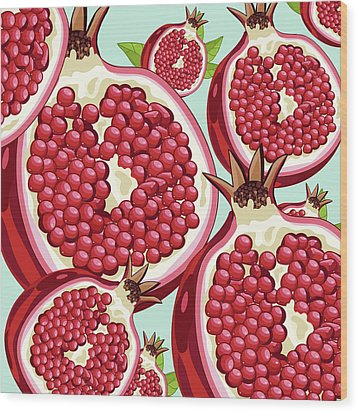 Pomegranate   Wood Print by Mark Ashkenazi