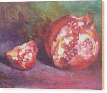 Pomegranate Wood Print by Susan Jenkins
