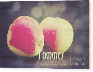 Pommes Wood Print by Angela Doelling AD DESIGN Photo and PhotoArt