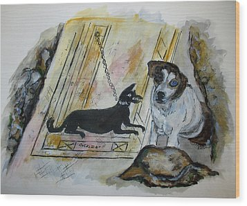 Pompeii Cane Wood Print by Clyde J Kell