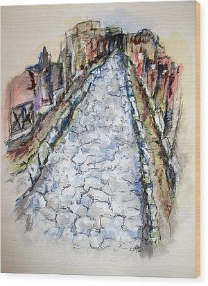Pompeii Road Wood Print by Clyde J Kell