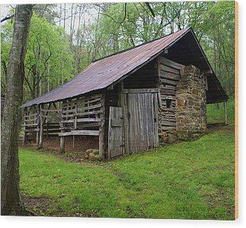 Ponca Barn Wood Print by Marty Koch