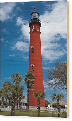 Ponce Inlet Lighthouse Wood Print by Christopher Holmes