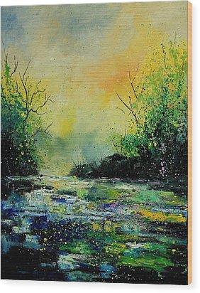 Pond 459060 Wood Print by Pol Ledent