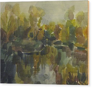 Pond Wood Print by Darya Gavroff