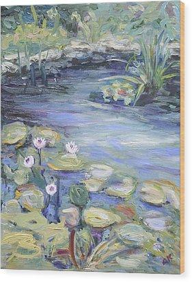 Pond In Berlin Wood Print by Barbara Anna Knauf