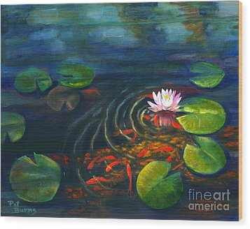 Pond Jewels Wood Print by Pat Burns
