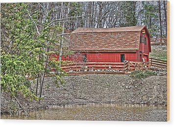 Wood Print featuring the photograph Pond Overlook 2 by Greg Jackson