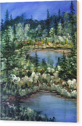 Pond Pond Wood Print by Mark Farr
