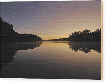 Pond Sunrise Wood Print by Mimi Katz