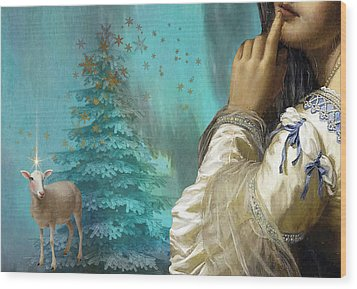 Pondering Peace Wood Print by Laura Botsford