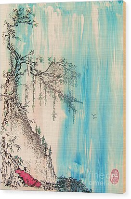 Wood Print featuring the painting Pondering Tranquility by Roberto Prusso