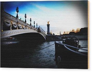 Pont Alexandre Wood Print by Cabral Stock